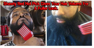 THE SHAWTY RED HOT PICK 2.0 BEARD STRAIGHTENER - SEXY AS HELL BEARD CARE