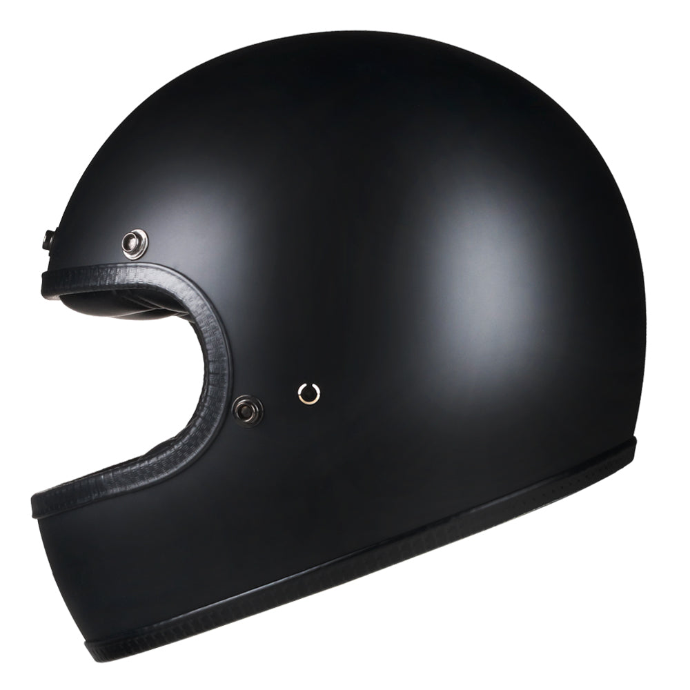 Full Face Retro Motorcycle Helmet - Cafe Racer - Matte