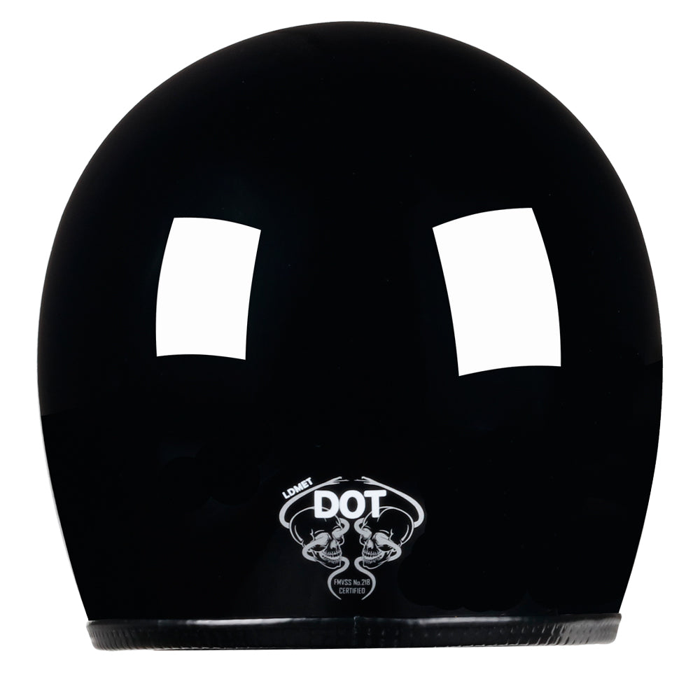 Full Face Retro Motorcycle Helmet - Cafe Racer - Gloss