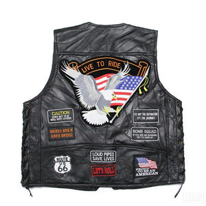 Leather Vest - Riders Gear Store