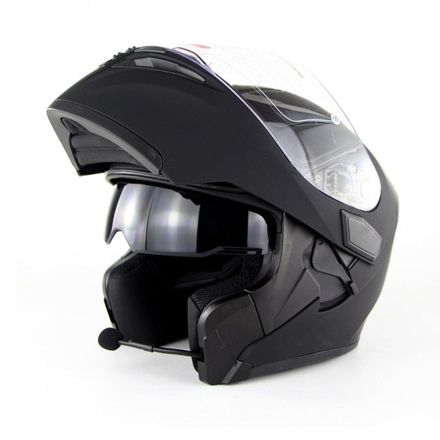 DOT Full Face Modular Helmet with Bluetooth Headset