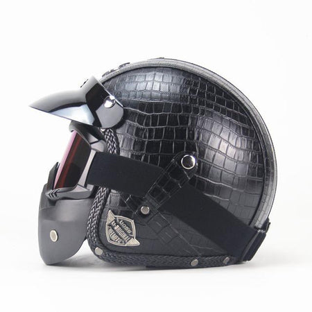 Premium Leather Helmet 3/4