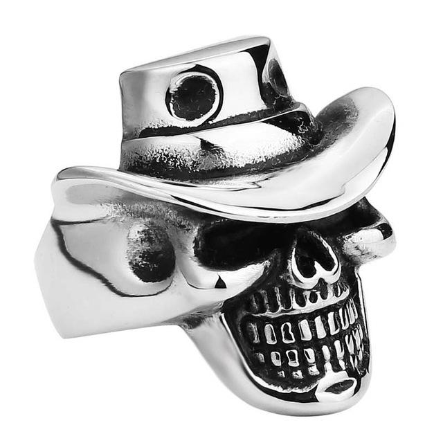 Biker Skull Hat Ring - Riders Gear Store