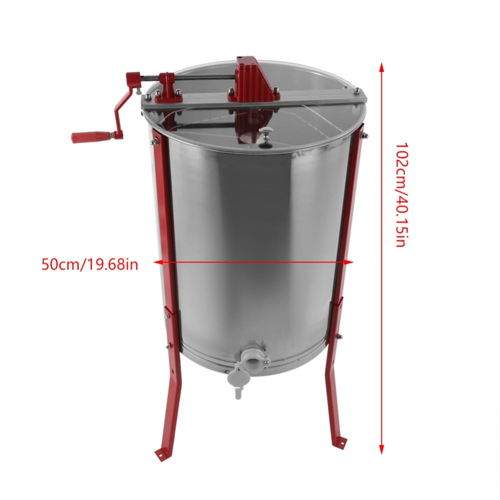 Stainless Steel Manual 4 Frame Honey Extractor/Honey Centrifuge