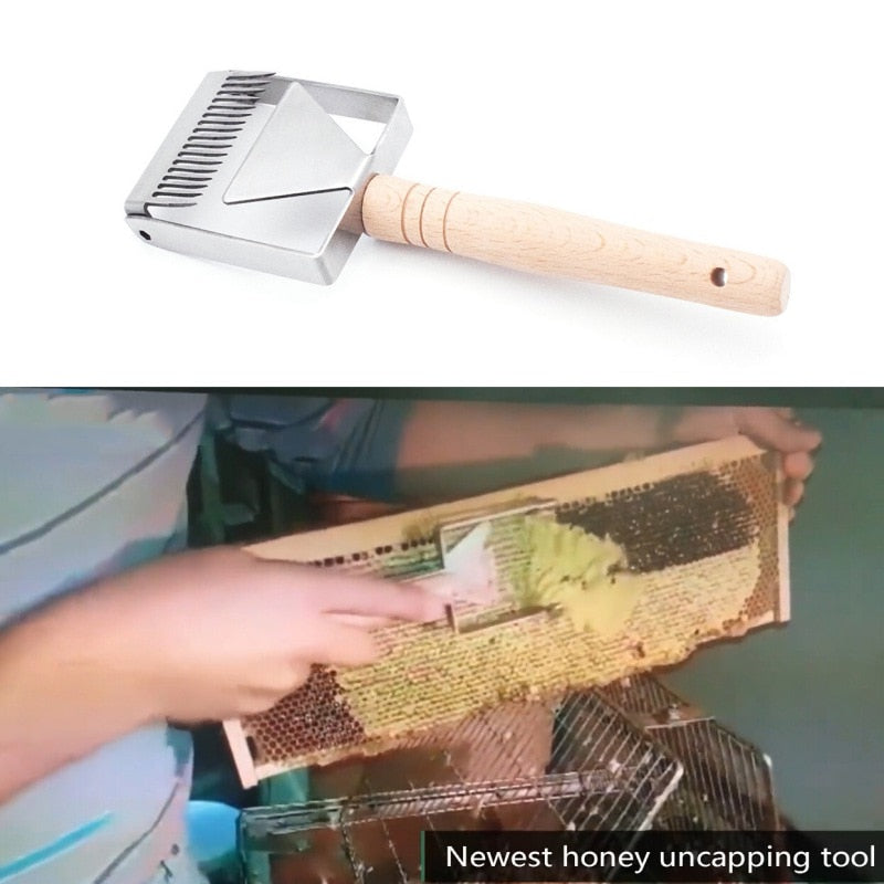Honeycomb Uncapping Tool with Wooden Handle
