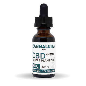 300mg Full Strength Whole Plant Hemp Oil