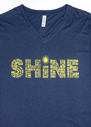 Short Sleeved Blue SHINE shirt