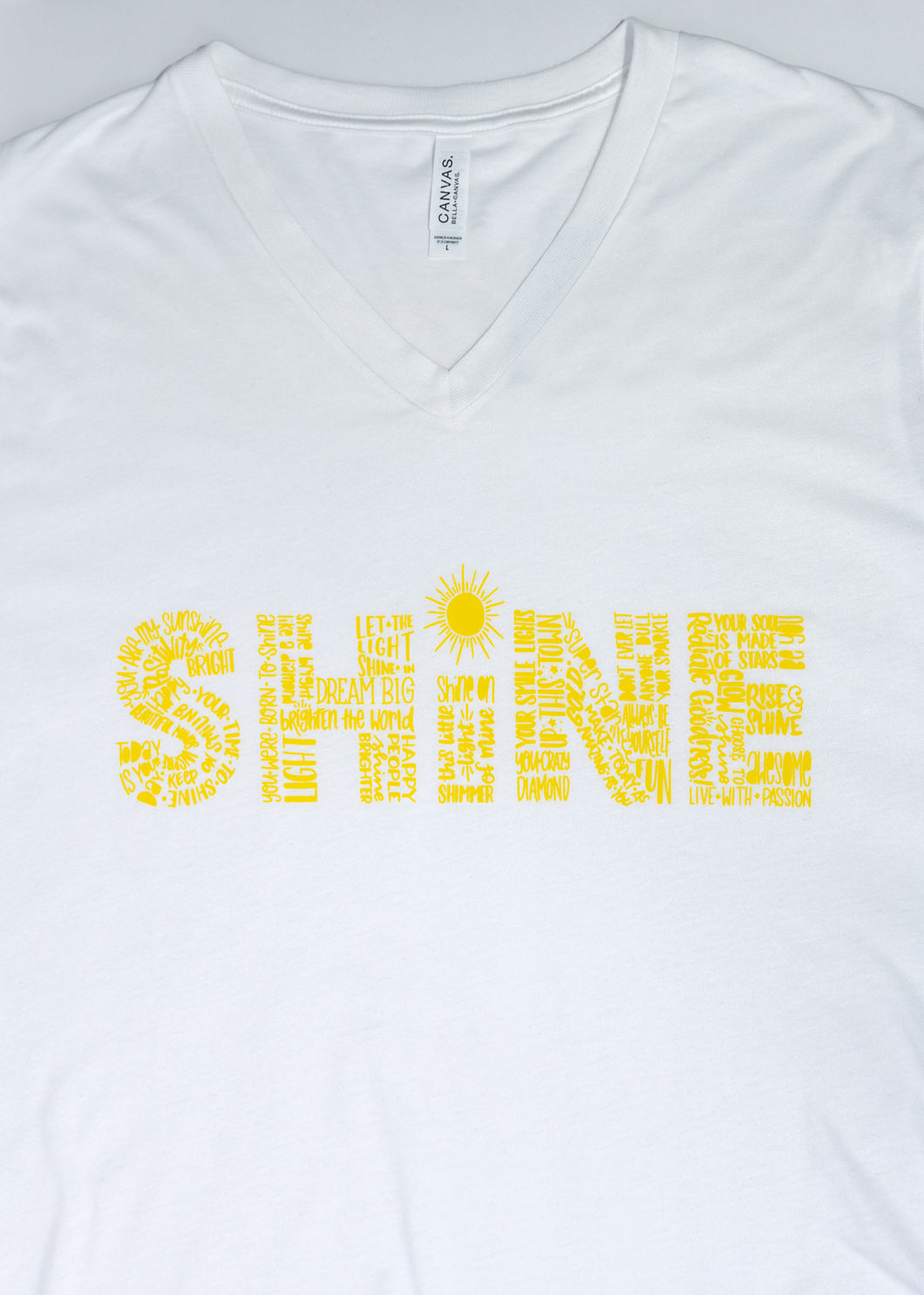 Short Sleeved White SHINE shirt