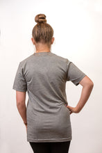 Load image into Gallery viewer, Short Sleeved Gray SHINE shirt