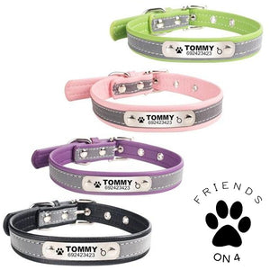 personalized dog collar Light reflective