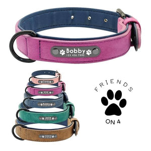 Leather dog collar colors