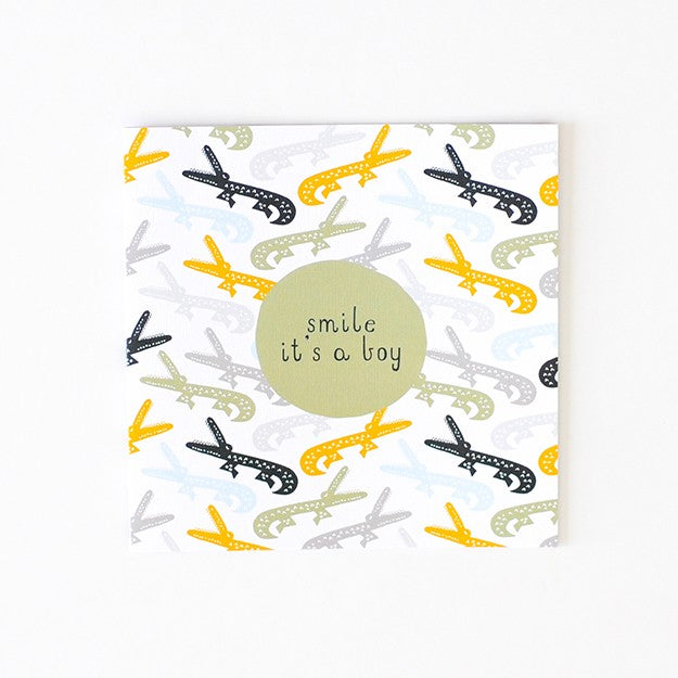Baby Boy Crocodiles Card