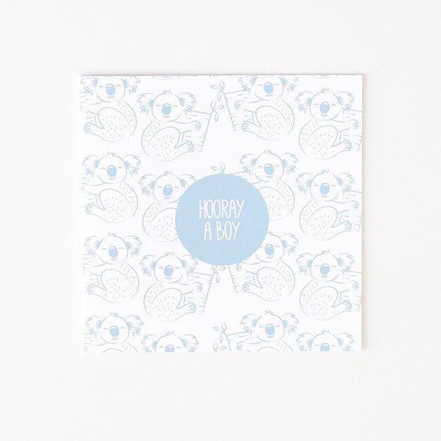 Baby Boy Koala Blue Card