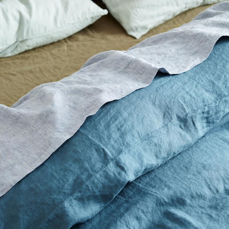 Sage & Clare Moonlight Linen Quilt Cover