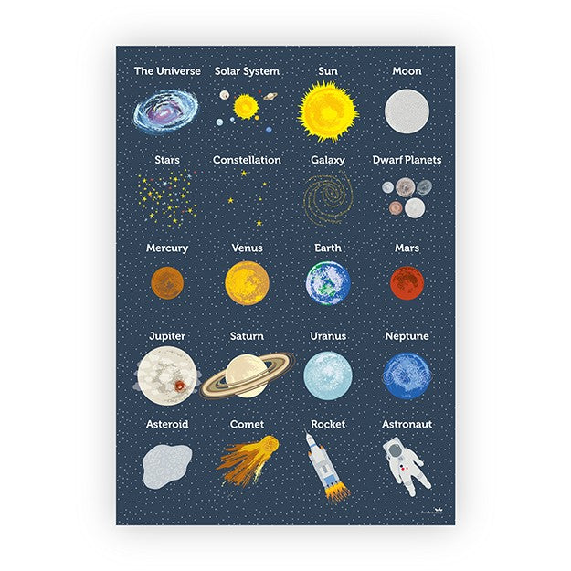 Space Poster (Navy)