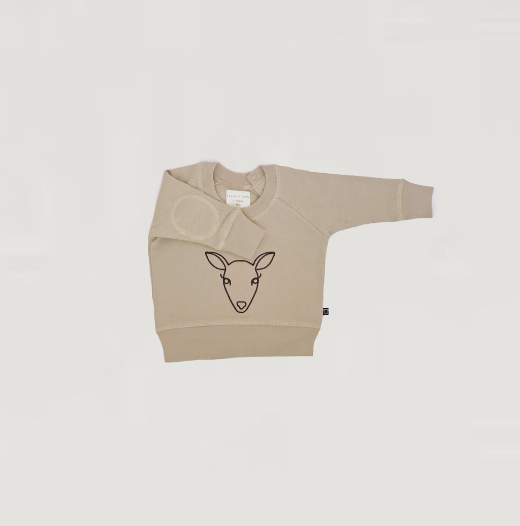 Deer sweater - sand