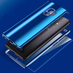 Plating 360 Degree Full Body PC Front+Back Cover Protective Case+Tempered Screen Protector