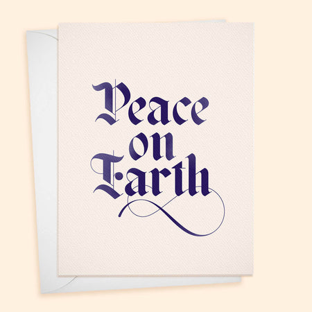 Peace on Earth - Calligraphy