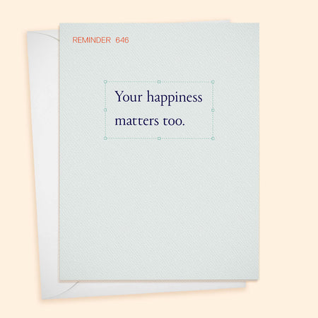 REM 646, Your Happiness Matters Too