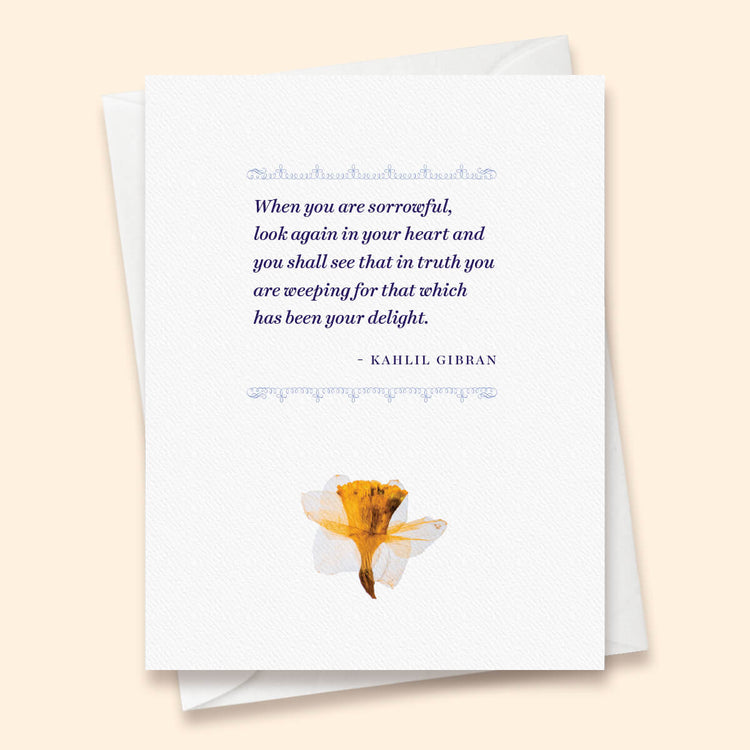 Small Comfort Kahlil Gibran Card