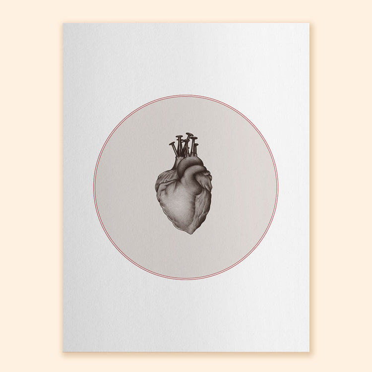 Nailed Heart Respite Art Print