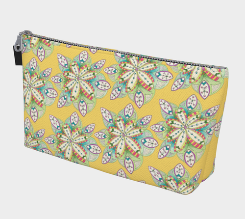 Cathedral Gold Pattern Makeup Bag
