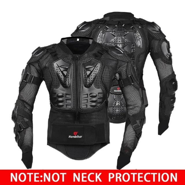 Motorcycle Armor Racing Body Protector Gear + Neck Protector
