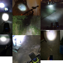 Load image into Gallery viewer, 4000mAh Induction Bicycle Front Light Set USB Rechargeable