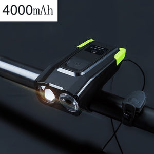 4000mAh Induction Bicycle Front Light Set USB Rechargeable