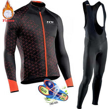 Load image into Gallery viewer, Winter Thermal Fleece Cycling Clothes Men's Jersey Suit