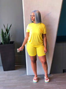 Tiffany Shorts Set (Yellow)