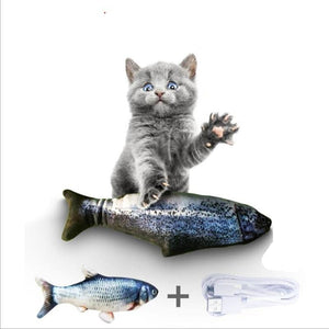 Electronic Pet Cat Toy Electric Usb Charging Simulation Fish Toy For