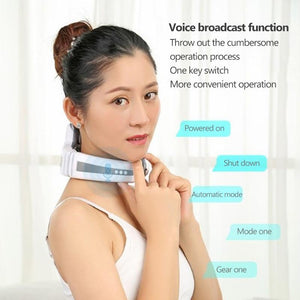 Electric Pulse Neck Cervical Massager With Far Infrared Heating Pain Relief Tool For Health Care
