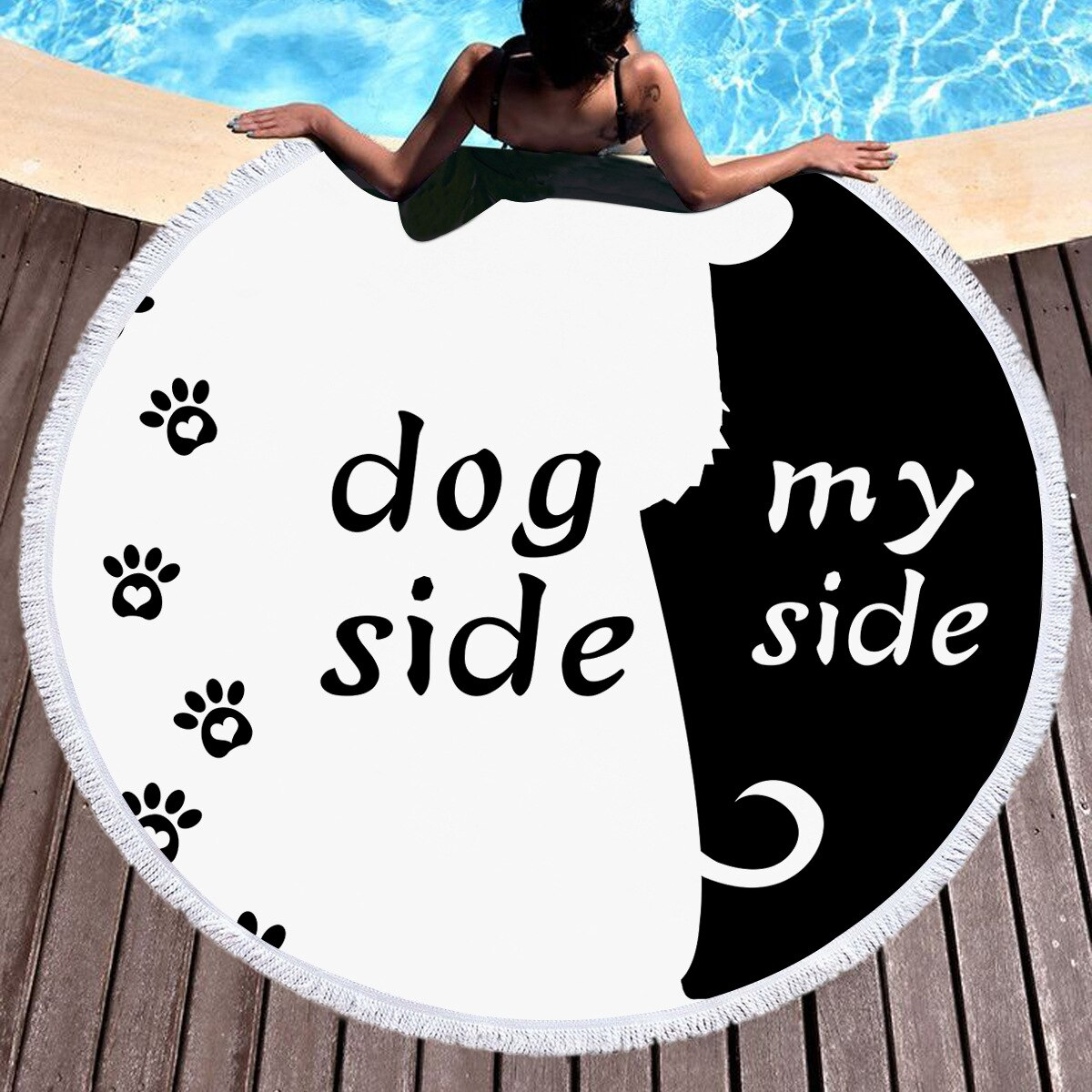 Dog Side My Side Beach Towel