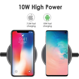 Newest K8 Wireless Charger for iPhone 11 Pro 8 X XR XS Max 10W USB Quick Wireless Charging Pad for iPhone Samsung Huawei Xiaomi