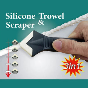3 in 1 Silicone Caulking Tools (stainless steelhead)