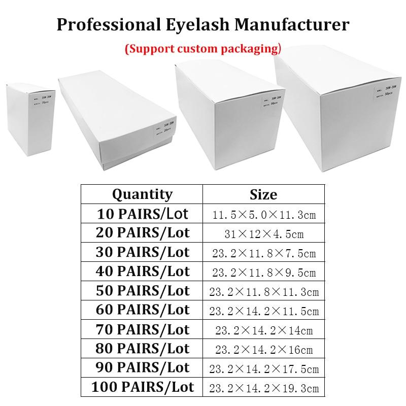 3D Mink Lashes Natural Long with Custom Box In Bulk Makeup Maquiagem Eyelash Extension Supplies