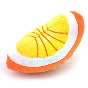 1pc Plush Squeaky Bone Dog Toys Bite-Resistant Clean Dog Chew Puppy Training Toy Soft Banana Carrot And Vegetable Pet Supplies