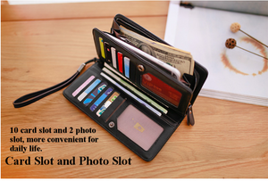 Universal Large Capacity Clutch Cell Phone Wallet With Card