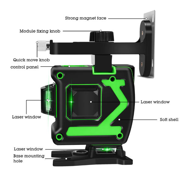 4D Green Beam Laser Level