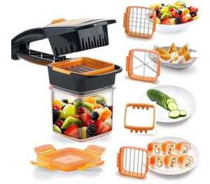 The Best Fruit And Vegetable Dicer Chopper -  5 in 1 Multifunction Vegetable Cutter Manual Vegetable Quick Dicer
