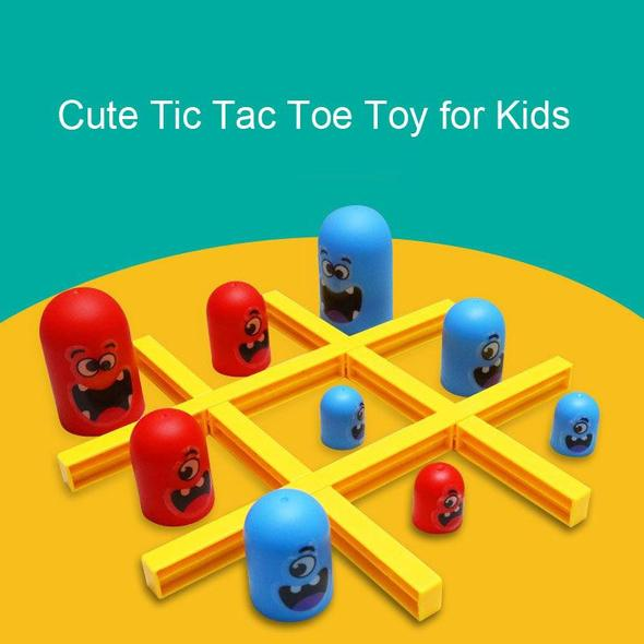 Cute Tic Tac Toe Board Game for Kids and Family