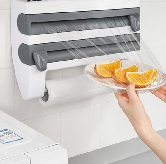 Multi-function film shelf cutter for the kitchen