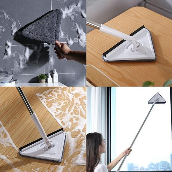VacheShop Multifunctional 360° Triangle Cleaning Mop