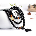 Luminous Dragon & Tiger's Eye Buddha Mala Bracelet-Jewelry-Just Necessary