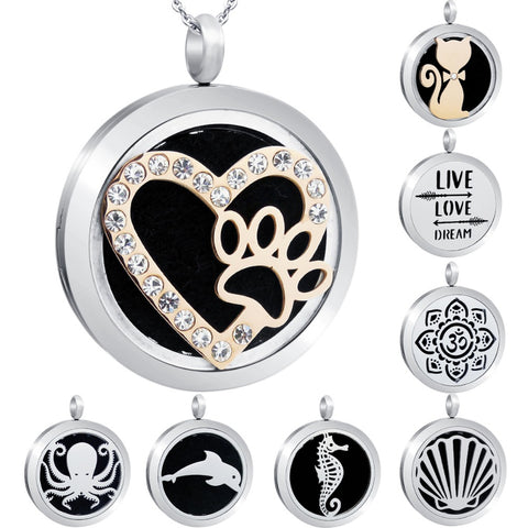 Stainless Steel Aroma Locket Pendant-aromatherapy-Just Necessary