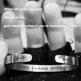 Keep Going Inspirational Mantra Bracelet-Jewelry-Just Necessary