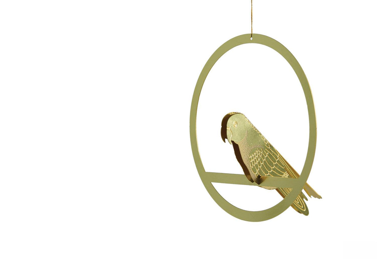 Hanging brass bird, 2018, Another studio