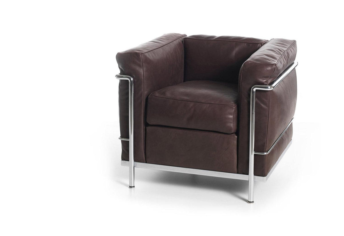 LC2 Armchair chrome, 1928, Le corbusier jeanneret perriand, Cassina