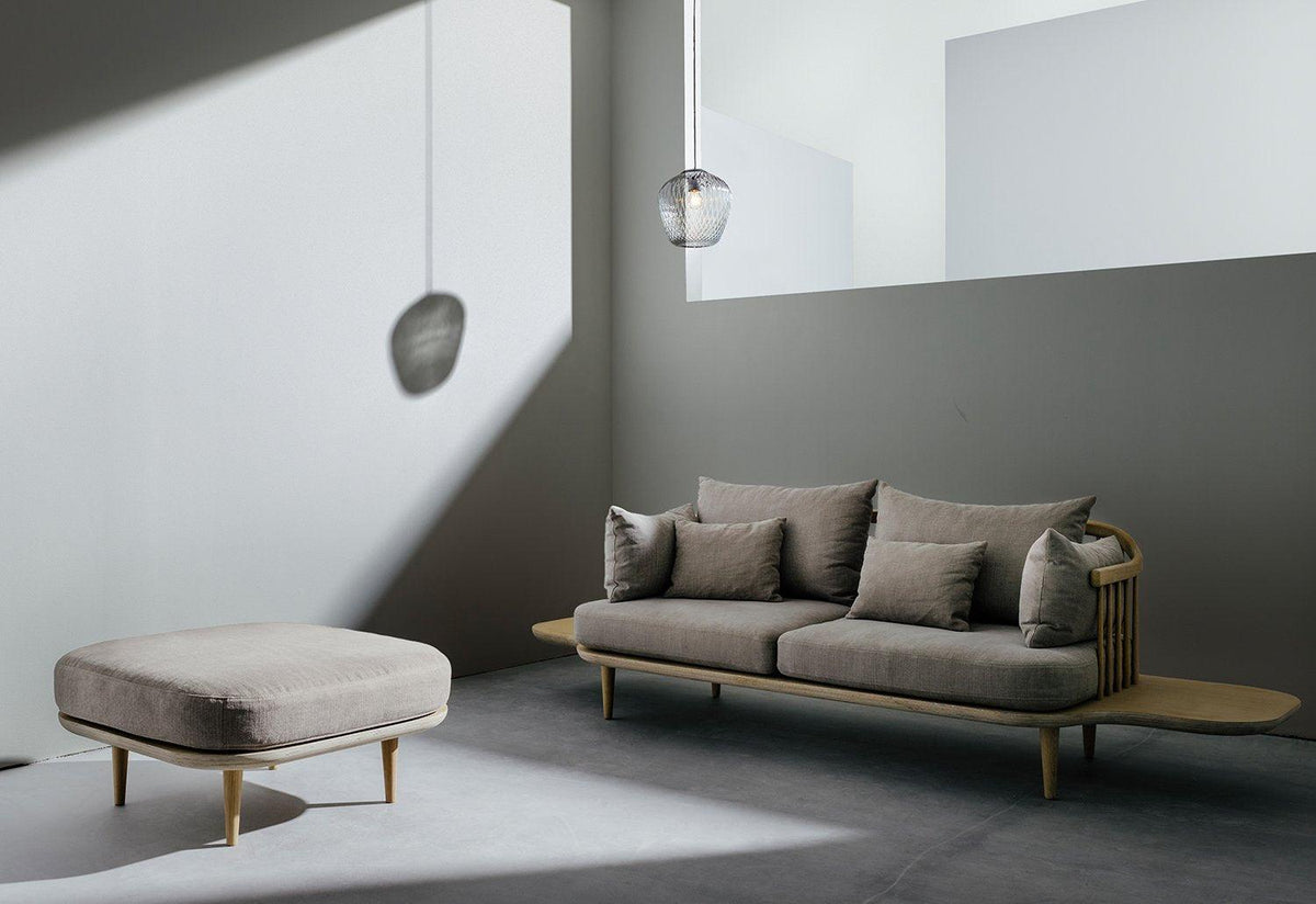 Fly two-seater sofa with table, Space copenhagen, Andtradition